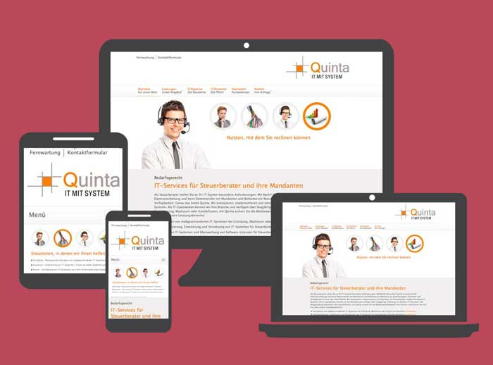 Website: Quinta IT-Systeme für Steuerberater